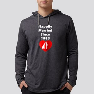 Happily Married Since 1995 Long Sleeve T-Shirt