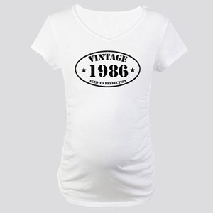 Vintage Aged to Perfection 1986 Maternity T-Shirt