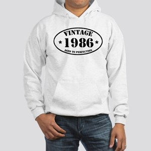 Vintage Aged to Perfection 1986 Hooded Sweatshirt