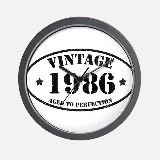 Vintage Aged to Perfection 1986 Wall Clock