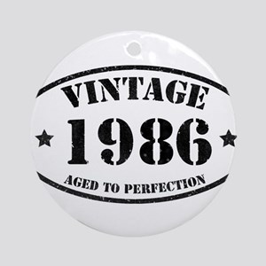 Vintage Aged to Perfection 1986 Round Ornament