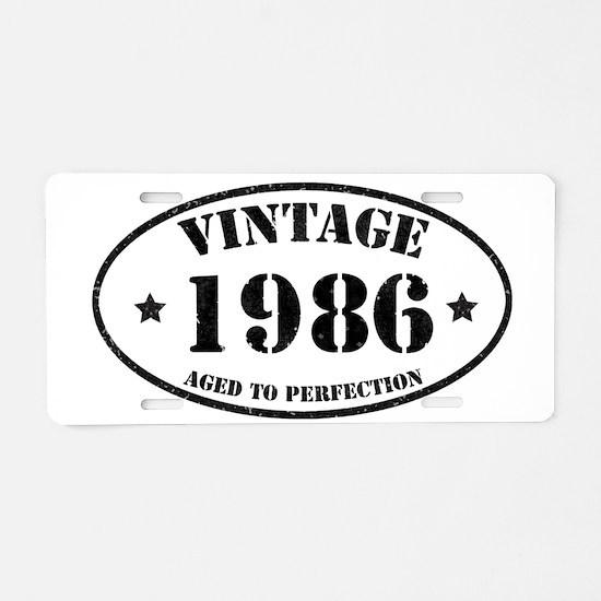 Cute 1986 Aluminum License Plate