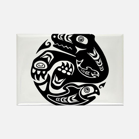 Native American Bear and Fish Magnets