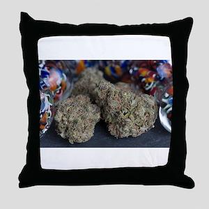 Granddaddy Purple Medical Marijuana Throw Pillow