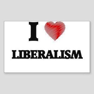 I Love Liberalism Sticker
