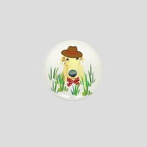 Hound Dog With Hat Mini Button