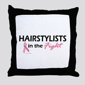 Hairstylists In The Fight Throw Pillow