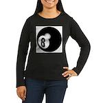 Eight Ball Women's Long Sleeve Dark T-Shirt