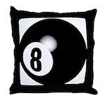 Eight Ball Throw Pillow
