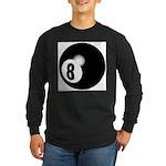 Eight Ball Long Sleeve Dark T-Shirt