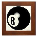 Eight Ball Framed Tile