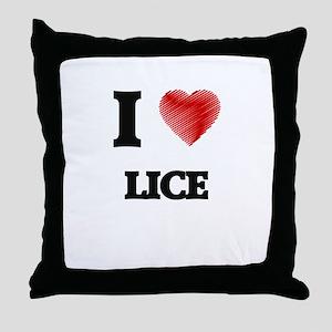 I Love Lice Throw Pillow