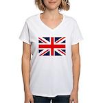 Union Jack Women's V-Neck T-Shirt