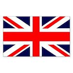 Union Jack Rectangle Sticker