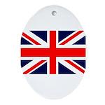 Union Jack Oval Ornament