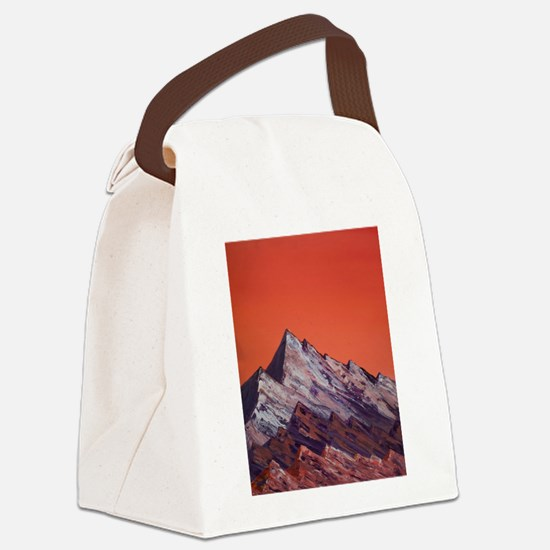 Orange Mountains Canvas Lunch Bag