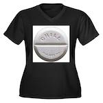 Chill Pill Women's Plus Size V-Neck Dark T-Shirt