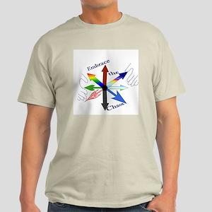 Embrace the Chaos (star) Light T-Shirt