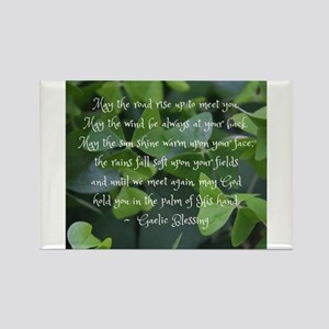 Shamrocks Gaelic Blessing Magnets