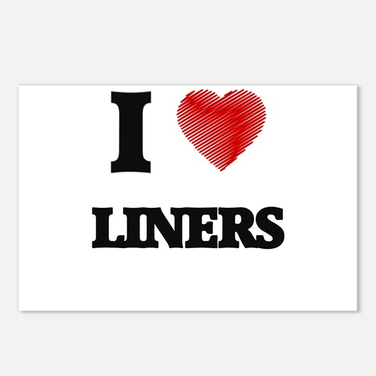 I Love Liners Postcards (Package of 8)