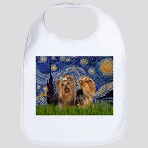 Starry Night & Yorkie Pair Bib