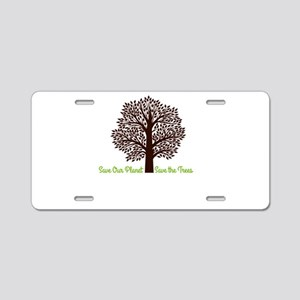 Save our Planet! Aluminum License Plate