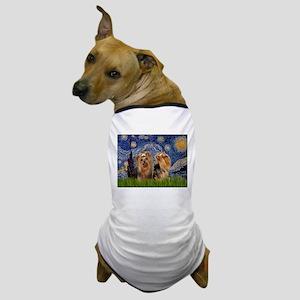 Starry Night & Yorkie Pair Dog T-Shirt