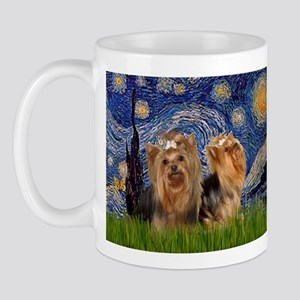 Starry Night & Yorkie Pair Mug