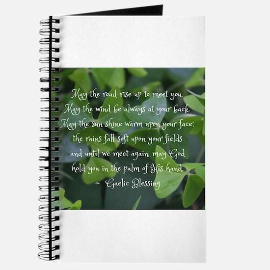 Shamrocks Gaelic Blessing Journal