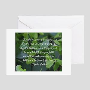 Shamrocks Gaelic Blessing Greeting Cards -10 Pack