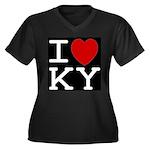 I heart KY Women's Plus Size V-Neck Dark T-Shirt