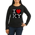 I heart KY Women's Long Sleeve Dark T-Shirt