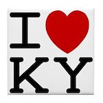 I heart KY Tile Coaster