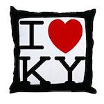 I heart KY Throw Pillow