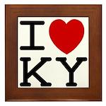 I heart KY Framed Tile