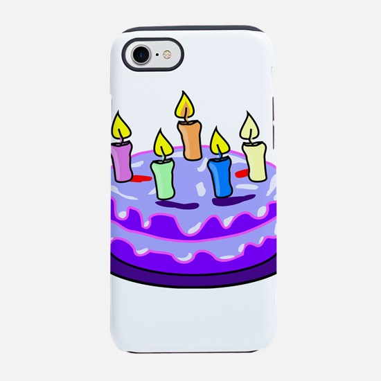 Purple Birthday Cake iPhone 8/7 Tough Case