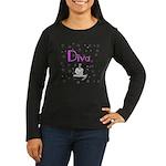 Diva Women's Long Sleeve Dark T-Shirt