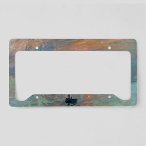 Monet's Impression Sunris License Plate Holder