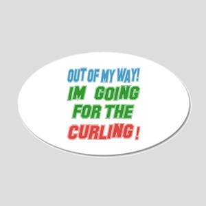 I'm going for the Curling 20x12 Oval Wall Decal