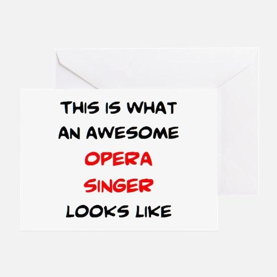 awesome opera singer Greeting Card
