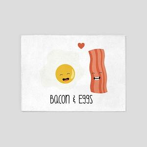 Bacon & Eggs 5'x7'Area Rug