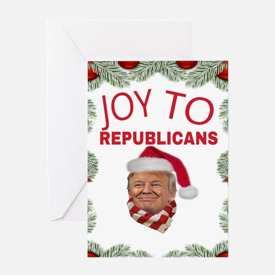 JOY TO REPUBLICANS Greeting Cards