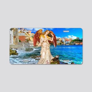 Water Angel Aluminum License Plate