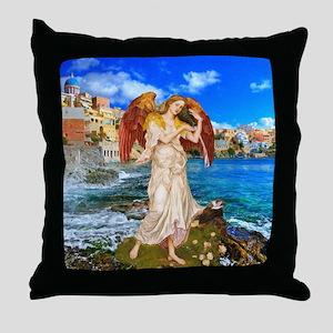 Water Angel Throw Pillow