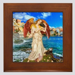 Water Angel Framed Tile