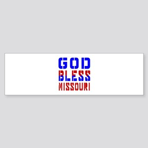 God Bless Missouri Sticker (Bumper)