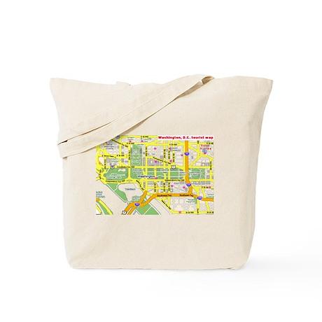 Washington, D.C. tourist map Tote Bag