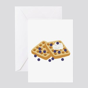 Blueberry Waffles Greeting Cards