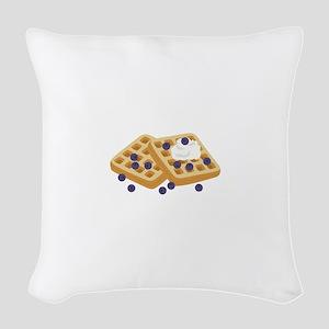 Blueberry Waffles Woven Throw Pillow