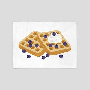 Blueberry Waffles 5'x7'Area Rug